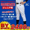 MIZUNO(ミズノ) 少年野球用練習ユニフォームパンツ(ガチパンツ) ジュニア用練習着 ショートタイプ レギュラーパンツ(12jd6f8001…