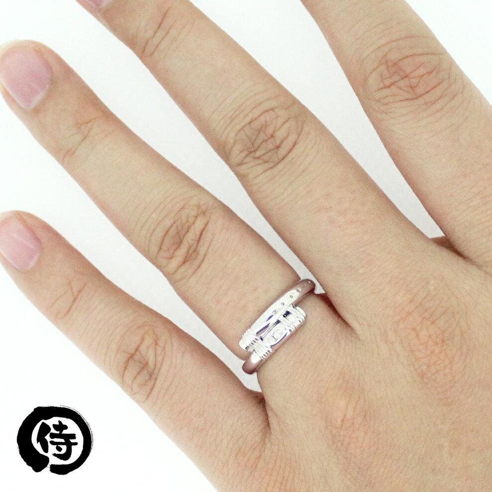 【侍丸】お通の篠笛 Pd950レディースリング パラジウム マリッジリング 結婚指輪 指輪 和風 和