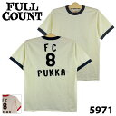 【FULLCOUNT】 フルカウント 5971 PRINT RINGER TEE FC 8 PUKKA プリント リンガーT ヴィンテージ アメカジ 0601楽天カード分割