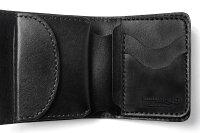 【サムライクラフト】ハーフウォレットN-3ブラックサドルレザーカービング革財布ハンドメイド