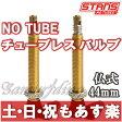 【返品保証】 Stan's NoTubes スタンズノーチューブ チューブレス バルブ 2個入り 仏式/バルブ長44mm【あす楽】