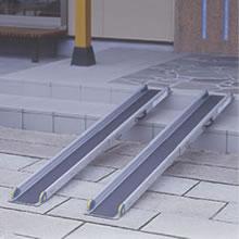 [リッチェル] ワンタッチスロープ (2本1組 長さ129〜209cm 耐荷重約300kg)