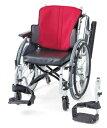 【法人宛送料無料】 日進医療器 6輪車椅子 自走用 座王 NA-506W 低床 足こぎ 小回り 座り心地快適 座幅40cm 42cm 耐荷重100kg NISSIN 1