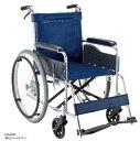【法人宛送料無料】[マキテック] EW-20 車椅子 自走式 標準タイプ ノーパンクタイヤ仕様 背固定 リーズナブル 座幅42cm 紺/緑チェック 耐荷重100kg MAKITECH 1