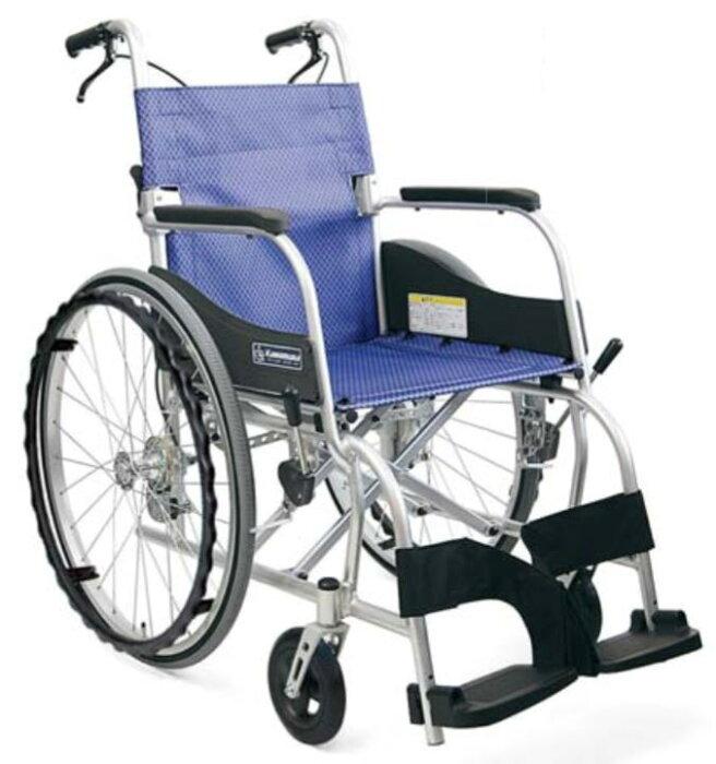 【法人宛送料無料】[カワムラサイクル] ふわりす KF22-42SB 車椅子 座幅42cm 軽量 自走式 折り畳み可能 エアタイヤ仕様 ゆったりサイズ 耐荷重100kg さんごピンク/すみれパープル SGマーク KAWAMURA