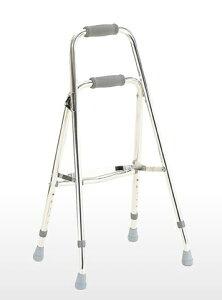 杖のように片手で扱える歩行器です[カワムラサイクル] サイドウォーカー S7 (折りたたみ式)