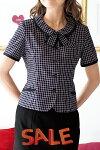 ★サマーセール★事務服・制服enjoie26255オーバーブラウス【5〜25号】【会社制服Sanapparel】21号〜受注生産となります。