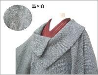 【送料込み価格】日本製和装コート変り衿アンゴラ混着物コート和服コート筒袖タイプ3343