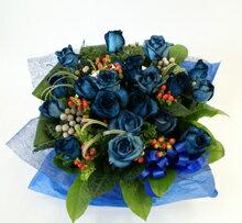 """青いバラ""""&グリーンアレンジメント10000レビュー2件青バラ(薔薇)花言葉は・・・能/有り得ない/神の祝福/奇跡"""