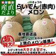 北海道より産地直送 JAきょうわ らいでんメロン 赤肉 超大玉 8キロ(2キロ×4玉)