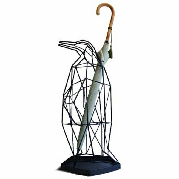 【ACT WORK'S/アクトワークス】シャドーワイヤー アンブレラスタンド ペンギン【傘立て PENGUIN デザイン雑貨 SHADOW WIRE UMBRELLA STAND 鳥 親】