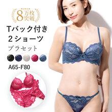 エレガントでSEXYなシースルー風総レース★ブラ&2ショーツ