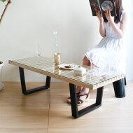 【デザイナー:ジョージ・ネルソン】商品名:NelsonPlatformBench(ネルソン・ベンチ)幅122cm・ガラスセット【リプロダクト・ジェネリック・復刻版】【テーブル】【ガラス天板】【テレビ台】【ローボード】【楽天】【通販】