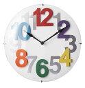 商品名:CALTE 掛け時計【時計】【掛け時計】【アナログ】【大文字】【見やすい】【可愛い】【デザイン】【ポップ】【楽天】【通販】