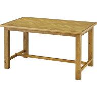 商品名:ヘリンボーンダイニングテーブル(135cm)【ヘリンボーン】【木製】【ダイニングテーブル】【北欧風】【SVET】【アジャスター付】【ミッドセンチュリー】【天然木】【637/737】【通販】【楽天】