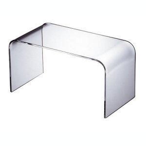 純粋無垢の透明感。シンプルで飽きないアクリルのテーブル。WAAZWIZ(ワーズウィズ)【送料無料】「Plainlowtable-L」【CanadaFesta2010】【10P08mar10】【P08mar10新規店】【P0222】