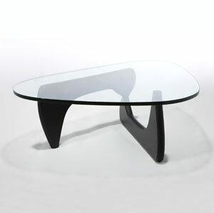 【デザイナー:イサム・ノグチ】商品名:NOGUCHITABLE(ノグチテーブル)アッシュ材・ウクォールナット材【リビングテーブル】【センターテーブル】【ガラステーブル】【硝子天板】【CT-3001】