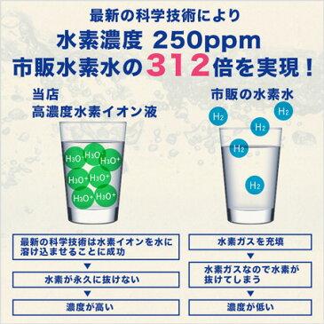 高濃度水素イオン液 水素水 送料無料 ハサル液 ペット 濃縮タイプ 水素が抜けない 水素水の革命