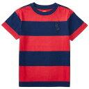POLO RALPH LAUREN(ポロ ラルフローレン) ビッグポニーワイドボーダー半袖Tシャツ(Red)【4/6】