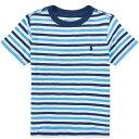 POLO RALPH LAUREN(ポロ ラルフローレン) ワンポイントボーダーTシャツ(Navy/Blue/White)【2T/3T/4T】