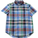 Ralph Lauren(ラルフローレン) 半袖タータンチェックボタンダウンシャツ(Blue)【6】 1