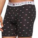 【メンズ】Tommy Hilfiger(トミーヒルフィガー) フラッグロゴウエストバンドボクサーパンツ(Black)/男性用インナー下着☆ギフト・プレゼントに!