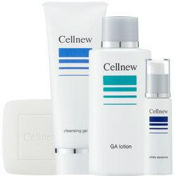 セルニュー ニキビ対策 基礎化粧品4点セット 『洗顔石鹸タイプ』 【敏感肌/ニキビ対策】[ クレンジング・洗顔・化粧水・美容液 ]