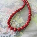 イタリア産赤珊瑚のネックレス/6.5ミリ/42センチ/K18/『宝石サンゴ』