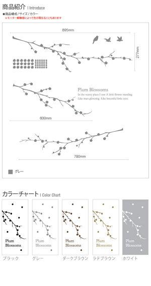 サンサンフー【ウォールステッカー】梅の香り(大)