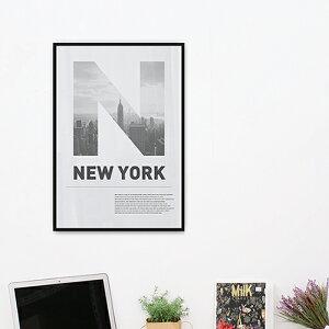 【アルミアートフレーム】1万円以上購入で送料無料ウォールデコポスターパネル額縁アルミ製シンプル【ニューヨークシティ452x649mm】