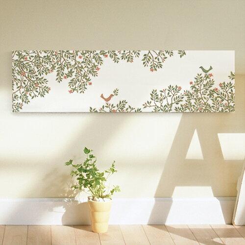 アートパネル ファブリック調 キャンバスアート 北欧 軽量 お洒落 壁掛け リーフ 植物 ビューティフルトゥデイ88x25 サンサンフー