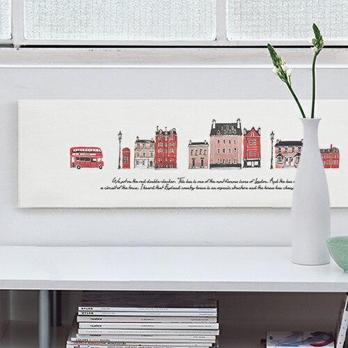 ファブリックパネル 子供部屋 インテリア アート パネル 北欧 グリーン おしゃれ ファブリックボード 木製 ウォールデコ キャンバス サンサンフー アイ・ラブ・ロンドン88x25