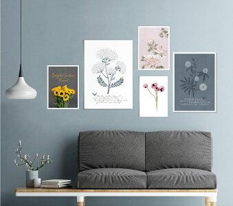 ファブリックパネルA4植物グリーンボタニカル北欧おしゃれインテリア壁掛けアートパネルファブリックボードキャンバスサンサンフーリーフコレクションA4