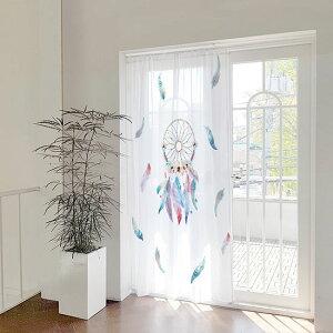 間仕切りカーテンのれんおしゃれ北欧つっぱり間仕切りカーテンドアカーテン目隠し仕切り出窓おしゃれロング花柄フラワーボタニカルかわいい送料無料エプロン出入り口パーテーション