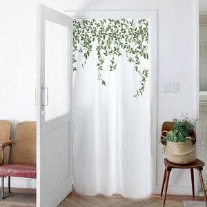 ドアカーテン鳥たちの庭園140x200cmカーテンのれん北欧かわいいおしゃれ柄花花柄仕切りカフェ風飾りドアインテリア北欧雑貨サンサンフー