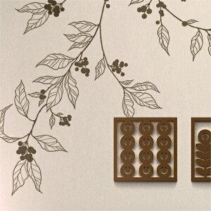 ウォールステッカー【アラビカ】壁窓リフォーム北欧転写木リビング壁シールwallstickerインテリアシールカフェナチュラル鳥寝室キッズ子ども部屋サンサンフー