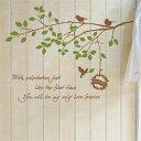 ウォールステッカー 木 飾りつけ ガラス 飾り DIY 剥がせる sticker 木 ステッカー バードハーモニー2の写真