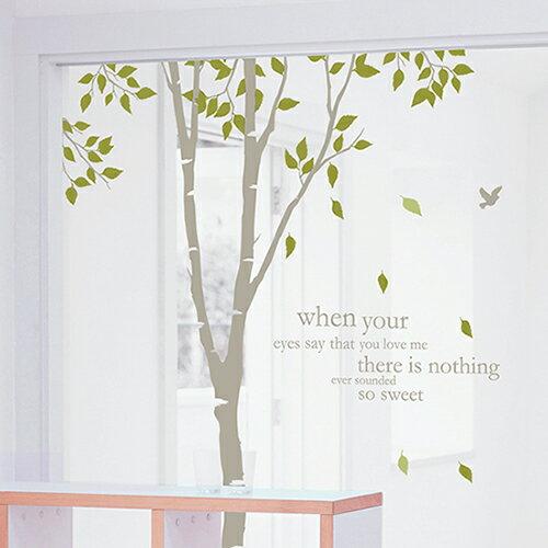 ウォールステッカー 木 飾りつけ 壁紙 パーティ 剥がせる 雑貨 北欧 誕生日 キッチン 白樺の森2の写真
