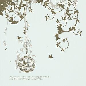 ウォールステッカー【夢の庭園】壁窓リフォーム北欧転写木リビング壁シールwallstickerインテリアシールカフェナチュラル鳥寝室キッズ子ども部屋サンサンフー