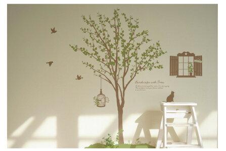 サンサンフー【ウォールステッカー】木のある風景2