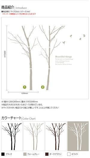 ウォールステッカー木sticker装飾ガラスウォール壁紙ステッカー木シール式夜明けの香り2