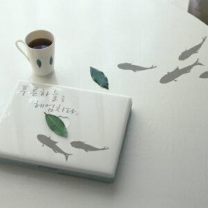 サンサンフー【ウォールステッカー】錦鯉(小)