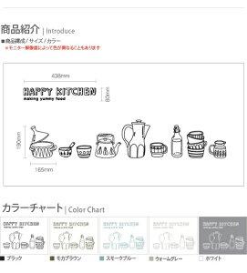 サンサンフー【ウォールステッカー】キッチンライン