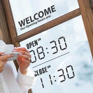 サンサンフー【ウォールステッカー】オープン/クローズ・デジタル