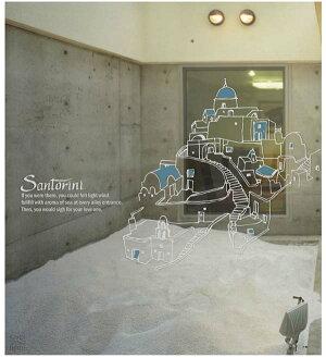 サンサンフー【ウォールステッカー】サントリーニ