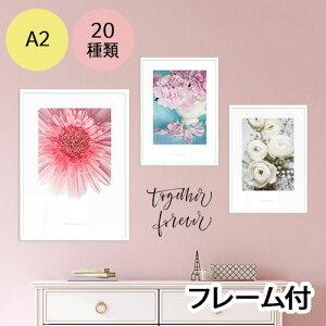 【インテリアポスター】フラワーコレクションA3※フレーム付
