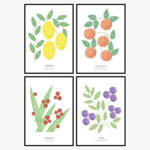 サンサンフー【インテリアポスター】選べる12種類4枚セットA3サイズ