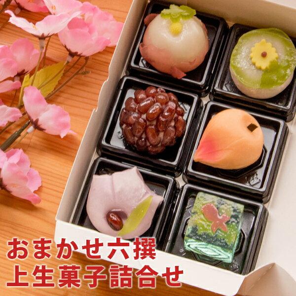 おまかせ六撰上生菓子詰合せ(簡易パッケージ)和菓子(北海道・沖縄を除く)