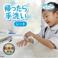 サンコー手洗い抗菌タイプウィルス対策びっくり抗菌帰ったら手洗いシート20枚入びっくりフレッシュ日本製