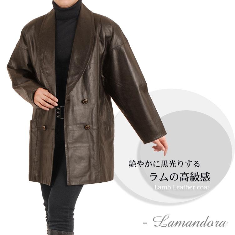 ラム ダブルコート  結婚式 レザー ◆◆ 冬 プレゼントcoat